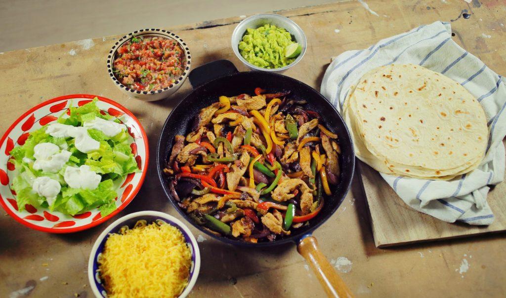 Csirke fajitas és Tortilla