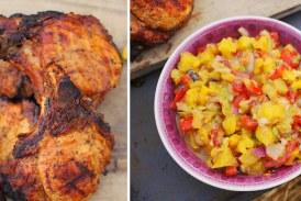 Grill bőségtál – Karajjal és ananász salsával