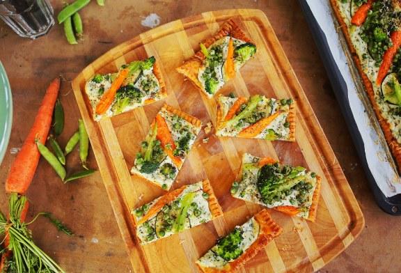 Ricottás zöldséges pite – recept