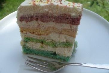 Szivárvány torta – szénhidrát csökkentett