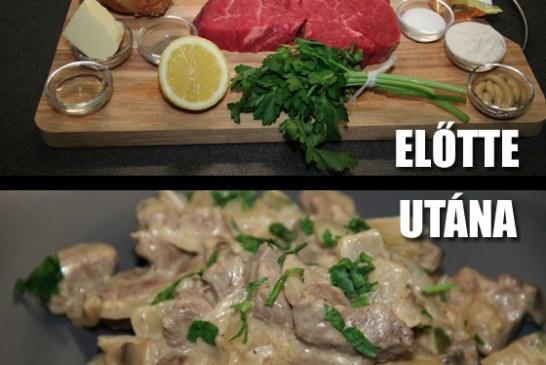 Orosz ízek: Sztroganoff bélszín – recept és videó