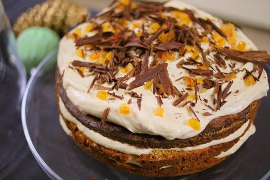 Csokoládés mogyorótorta narancskrémmel – recept