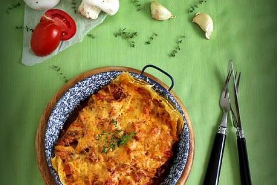 Az egyik legjobb egytálétel – Kolbászos gombás paradicsomos lasagne