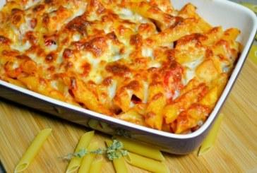 Sajtos paradicsomos tészta – villámgyors étel a sütőből!