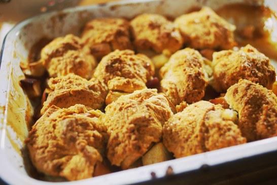 Almás-körtés cobbler sütemény – recept
