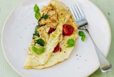 Jamie Oliver féle – Paradicsomos, bazsalikom omlett