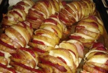 Ropogós – Töltött sült krumpli, recept