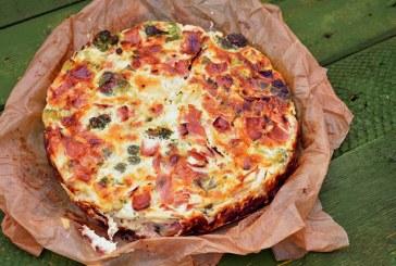 Brokkolis, sajtos tojáslepény