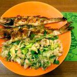 Süllő salátaágyon, recept