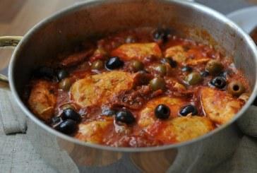 Olivás-paradicsomos csirke – recept
