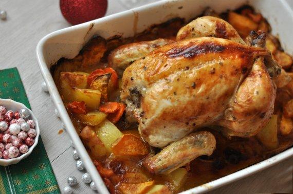 Ünnepi sült csirke
