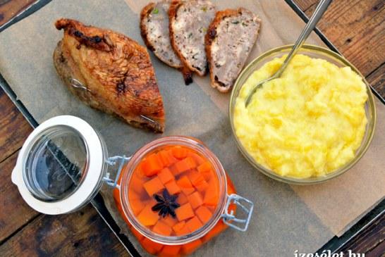 Töltött libanyak – Mártonnapra, recept