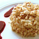 Bavariore fehér csokoládéval rizsköntösben