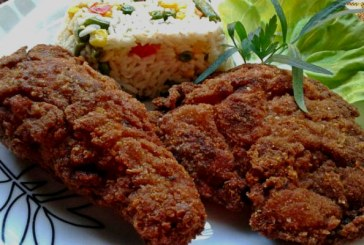 Fokhagymás-chilis rántott csirkecomb