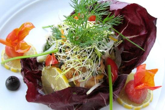 Marinírozott pontyfalatkák zöldségekkel