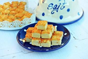 Bögrés – omlós sajtos kocka