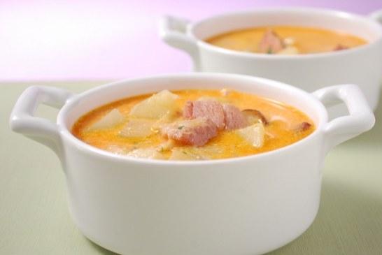Csülkös krumplileves gazdagon – recept