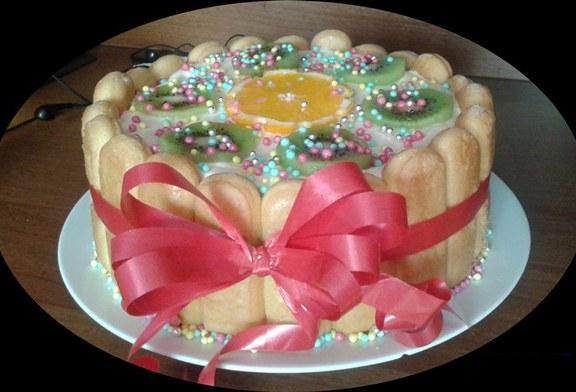 Gyümölcsös diplomata torta, recept