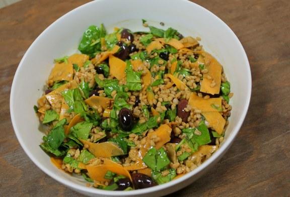 Téli saláta – Sütőtökös gerslisaláta