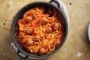 Paradicsomos spagetti húsgolyókkal, recept