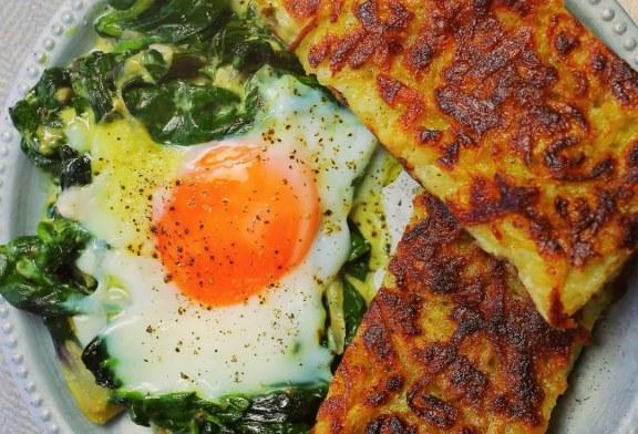 Serpenyős röszti sütőben sült tojással, recept