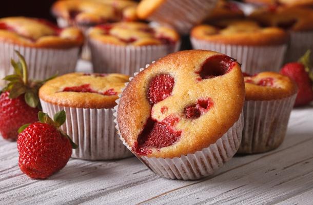 30 perces bögrés muffin illatos Eperrel