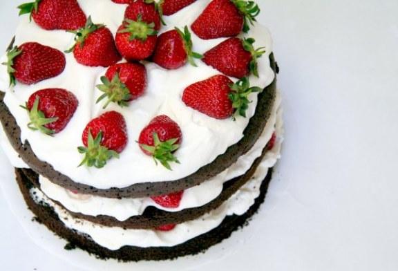 Epres brownie torta, recept