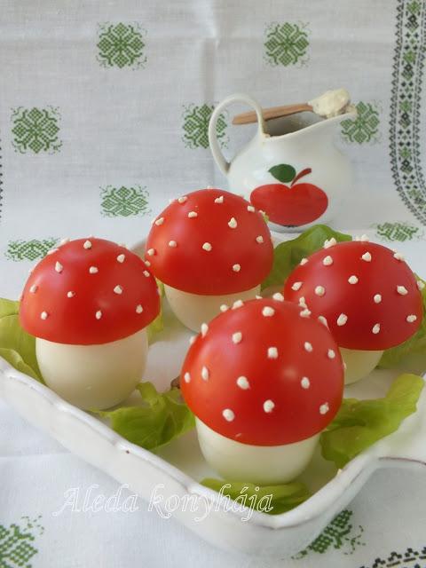 Gombás töltött tojás