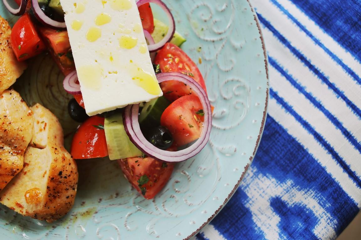 görög saláta citromos csirkével