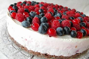 Túrókrémes Gyümölcsös torta, recept