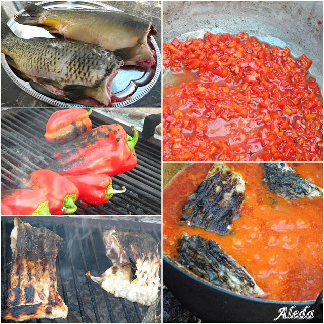 A Paprikás hal bográcsban