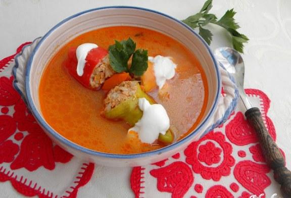 Töltött paprika leves, recept