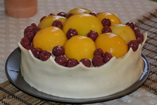 Királyi barackos torta, recept