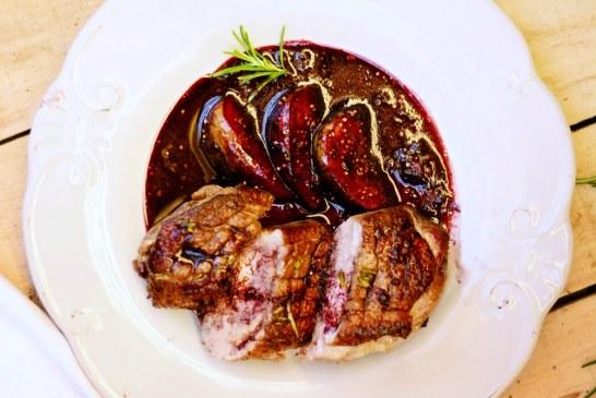 Rosé kacsamell vörösboros-rozmaringos fügével, recept