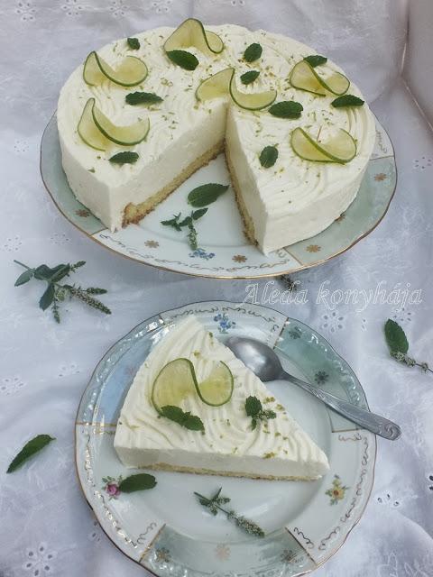 Fogyizók figyelem: Light Zöldcitromos torta - liszt és cukormentes !!!