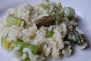 Zöldspárgás rizottó, recept