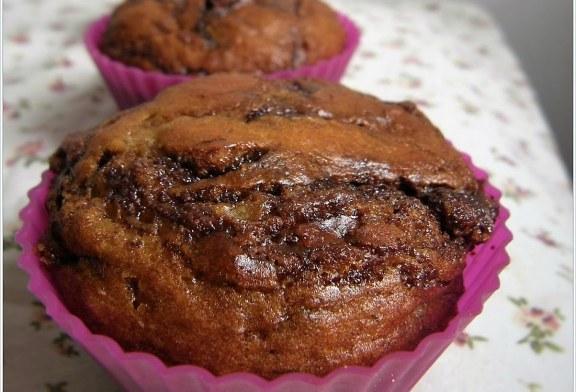 Banános nutellás muffin, recept