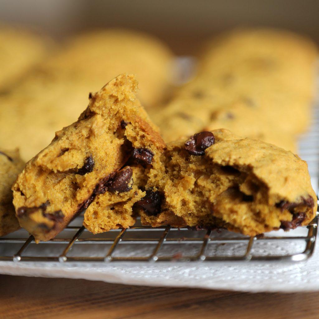 Sütőtökös csokis keksz