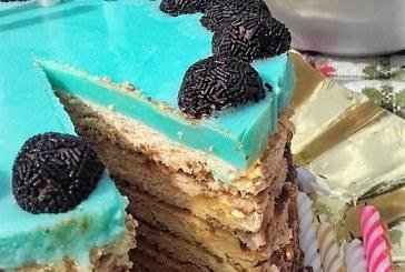 Kávékrémes torta tükörzselé tetővel, recept