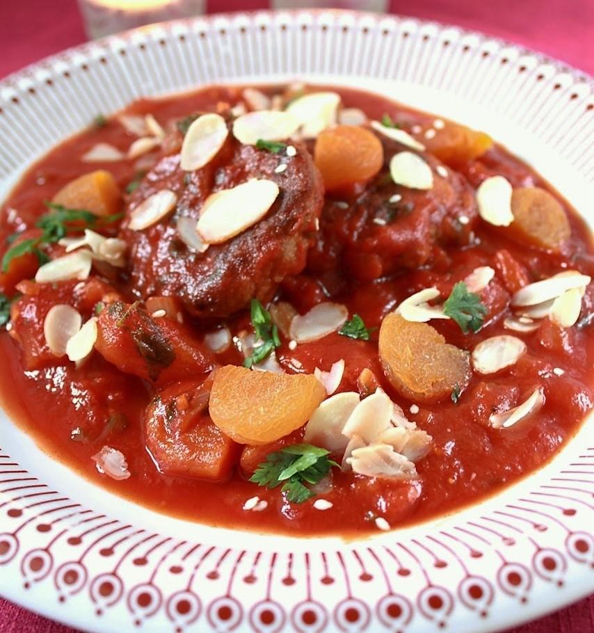 Marokkói paradicsomos húsgombóc (glutén-, laktóz-, és cukor mentes)