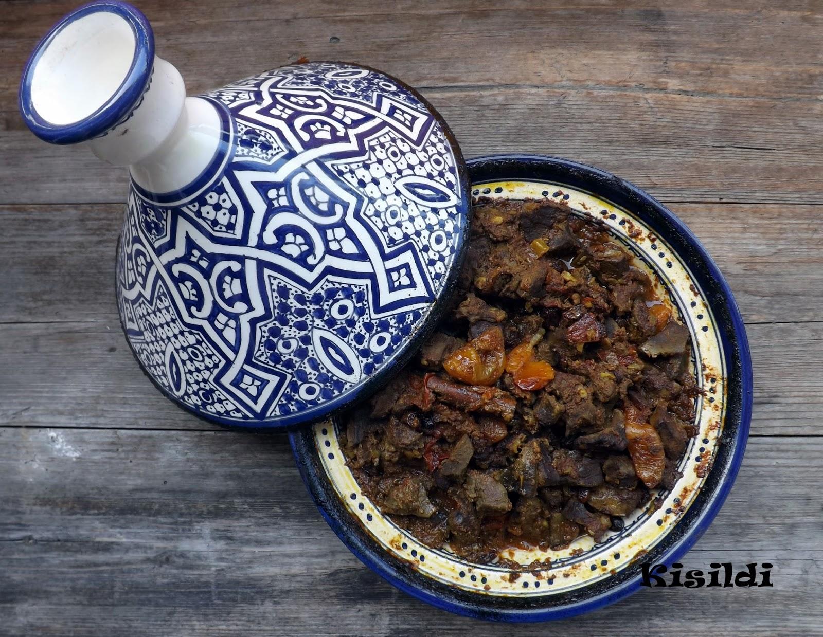 Marokkói Bárányhús tagine aszalt barackkal