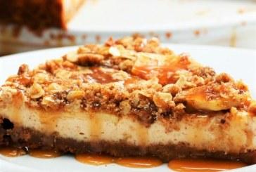 Mennyei almás-karamellás sajttorta, recept és videó