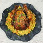Arábus Sült csirke édesburgonyás bulgurral,recept