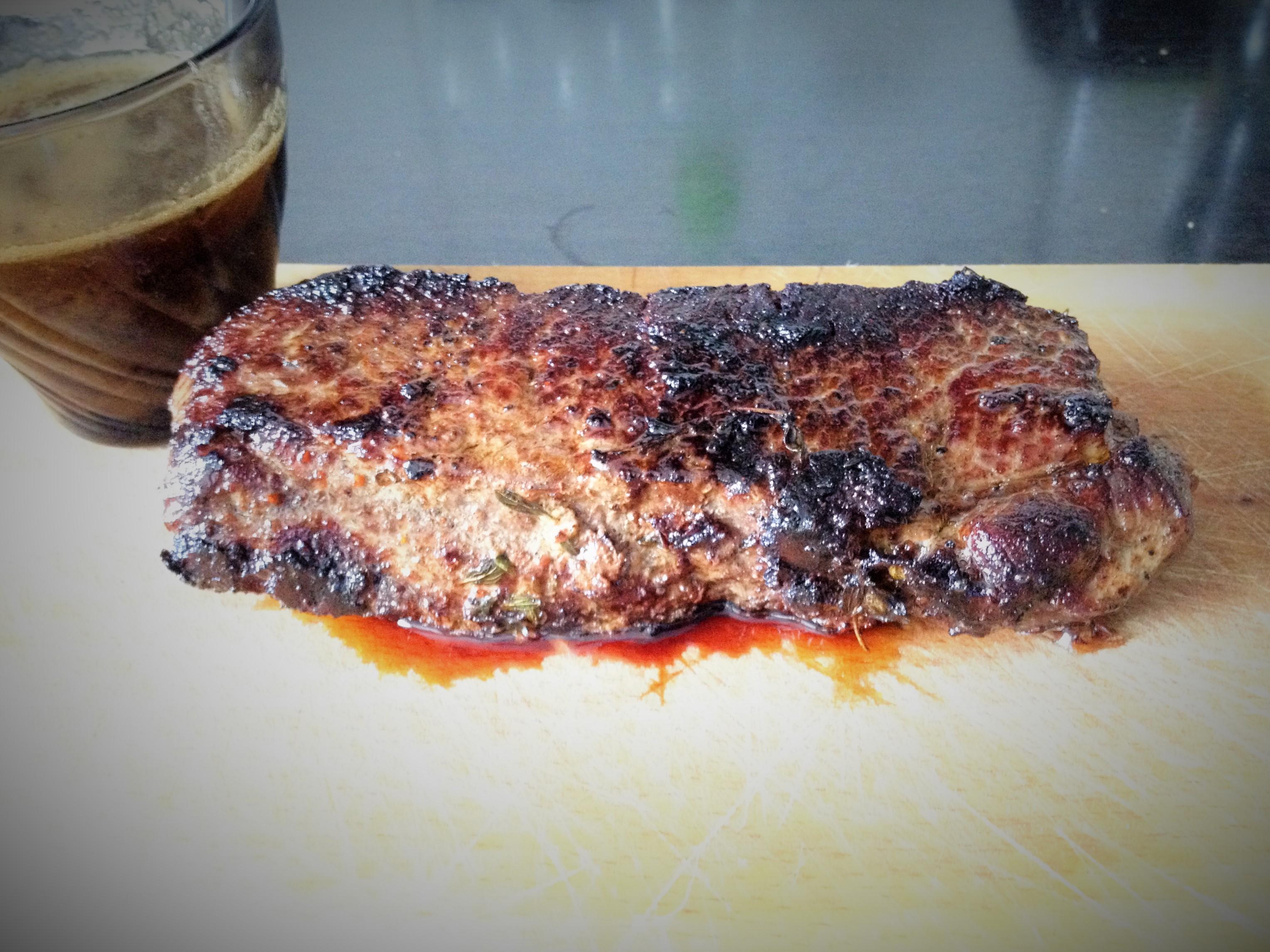 Szürke marha hátszín steak