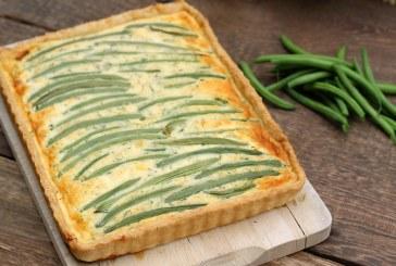 Zöldbabos quiche, recept