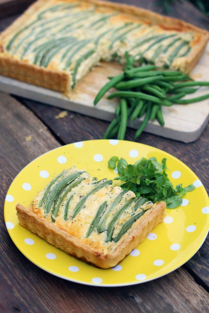 Zöldbabos quiche