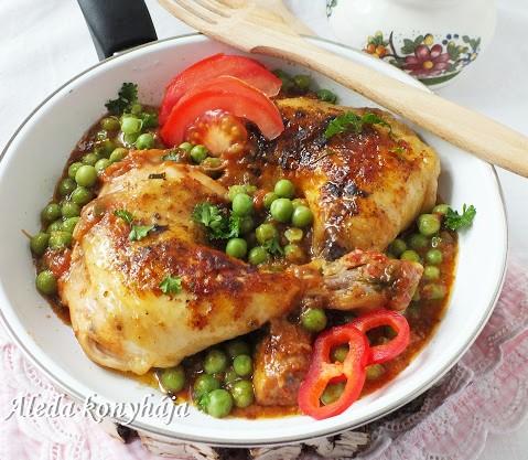 Zöldborsos csirke