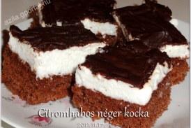 Citromhabos néger kocka, recept