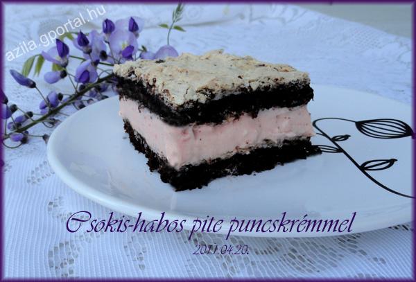 Csokis-habos pite puncskrémmel