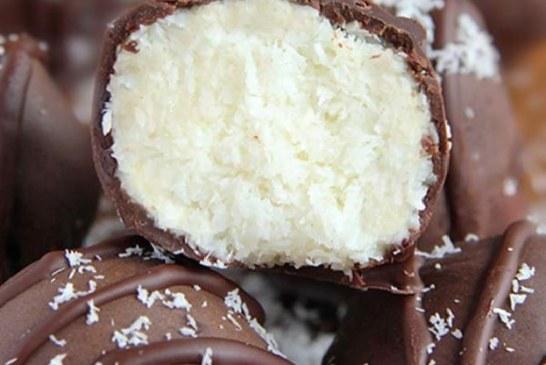 Csokoládéba mártott Raffaello, recept